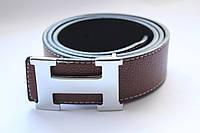 """Ремень """"Hermes"""" Unisex коричневый, фото 1"""