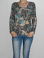 Трикотажная блузка большие размеры 52,54,56,58 Elegance 1602 Турция