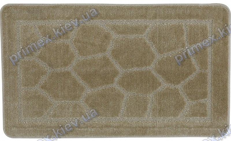 Набор ковриков для ванной, 60х100 + 60х50см. Камушки бежевый