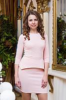 Платье женское с баской Jennifer - Розовый
