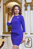 Платье женское с баской Jennifer - Фиолетовый
