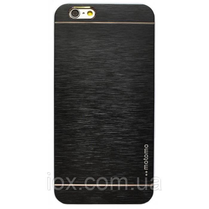 Металлический черный чехол Motomo для Iphone 6 plus