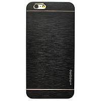 Металлический черный чехол Motomo для Iphone 6 plus, фото 1