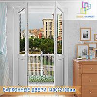 Двери балконные двухсекционные Киев, фото 1