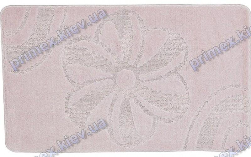 Коврик для ванной, 60х100см. Цветок розовый