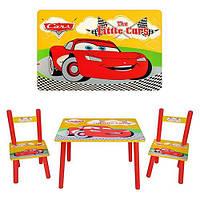 """Деревянный столик со стульчиками M 0292 """"Тачки"""""""