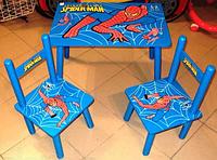 Детский Деревянный Столик «Spider Man» М 0294