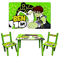 """Деревянный столик со стульчиками M 0489 """"Ben 10"""""""