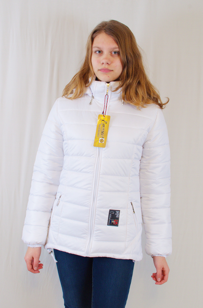 Красивая модная демисезонная женская куртка с капюшоном, р.42.