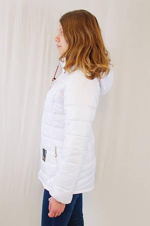 Красивая модная демисезонная женская куртка с капюшоном, р.42., фото 2