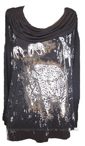 Женская блузка полу-батал