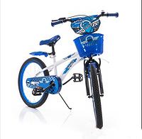 """Детский велосипед Azimut Hunter 14"""" дюймов белый с синим"""
