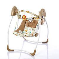 Детский шезлонг-качалка Bambi M 2129-2 коричневый