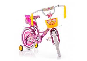 """Детский велосипед Azimut Girls 18"""" дюймов розовый"""