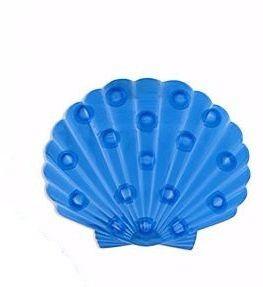 Игрушка для купания Миниковрик Ракушка синяя полупрозрачная