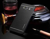Металлический черный чехол Motomo для Samsung Galaxy A3, фото 1