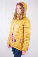 Красивая стильная демисезонная женская куртка с капюшоном.
