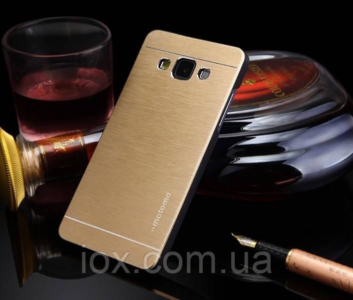 Металлический золотой чехол Motomo для Samsung Galaxy A3