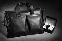 Мужская повседневная кожаная сумка. Сумка портфель Polo