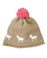 Детская вязаная шапка для девочки  5-6 лет