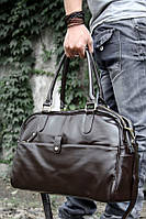 Дорожня Стильна чоловіча жіноча сумка (унісекс) стильна поседневная шкіряна сумка, фото 1