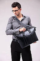 Дорожная мужская стильная модная поседневная кожаная сумка портфель
