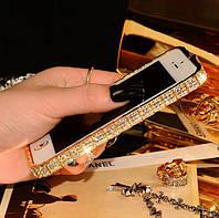 Бампер металлический SWAROVSKI Fashion Case для iPhone 5/5s Gold