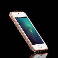 Бампер металлический SWAROVSKI Color Fashion Case для iPhone 5/5s Gold