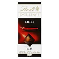Чёрнрый швейцарский Шоколад Lindt Excellence Chili Чили 100g