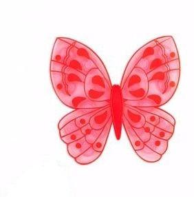 Мини коврики в ванную Бабочка красная