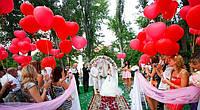 Шарики на свадьбу для свадебной фотосессии.