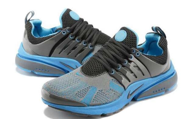 Кроссовки Nike Air Presto (ОРИГИНАЛ).серые с голубым беговые