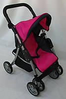 Детская коляска для кукол Melogo 9352 малино-черная