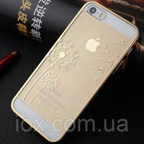 """Золотой чехол """"Одуванчик"""" для Iphone 5/5S"""