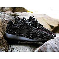 Кроссовки Nike Roshe Run Yeeze черные . кроссовки мужские, мужские кроссовки найк