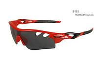 Солнцезащитные велоочки OAKLEY Radar Lock (Red/black) + футляр