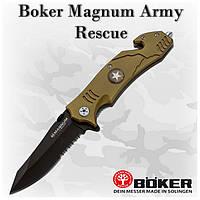 Нож Boker Magnum Army Rescue (01LL471), 440C, клипса, стропорез, стеклобой