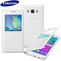 Original Samsung Galaxy A5 2015 S View Cover Case - White, фото 1