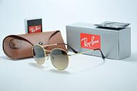 Солнцезащитные очки Rb Round Metal черное с зеленым, фото 1