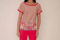 Блузка для женщины 461-620/46/бежевий в наличии 46 р., также есть: 46,48,52, Роксана_Дітекс