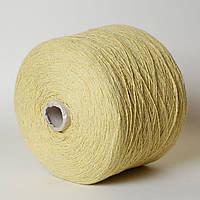 Пряжа Denim, жёлтый (97% хлопок, 3% ПА; 310 м/100 г) (бобина 400 г)