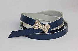 Женский ремень с пряжкой из страз F 180 синий