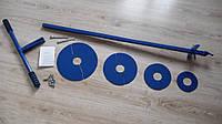 Универсальный ручной бур с максимальным количеством сменных ножей 125, 150, 200, 250 и 300 мм