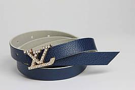 Женский ремень F 178 синий