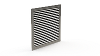 Решетка алюминиевая канальная нерегулируемая Канал-РКА-40-20