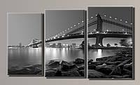 "Модульная картина на холсте из 3-х частей ""New York City"""