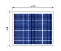 Солнечная батарея 50Вт / 12В  (поликристаллическая)  PLM-050P-36