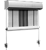Вертикальные маркизы, рефлексоли Веранда закрытого типа