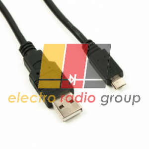 Кабель USB 2.0 (AM/Miсro 5 pin) 1,0м, черный (белый), Пакет