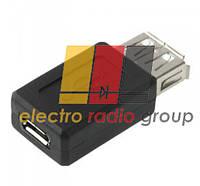 Переходник USB AF (мама) - micro USB (мама)